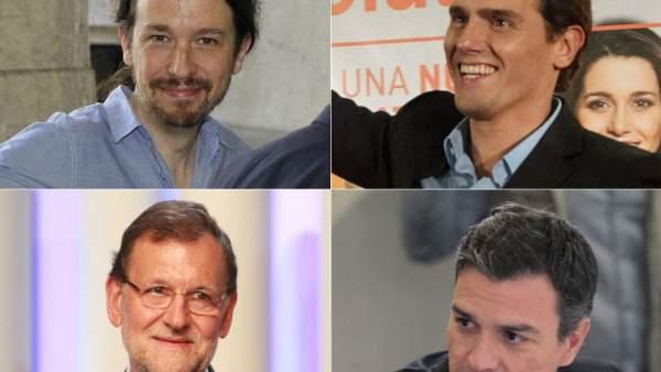Podemos, Ciudadanos, PP y PSOE