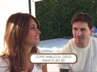 Antonella y Messi