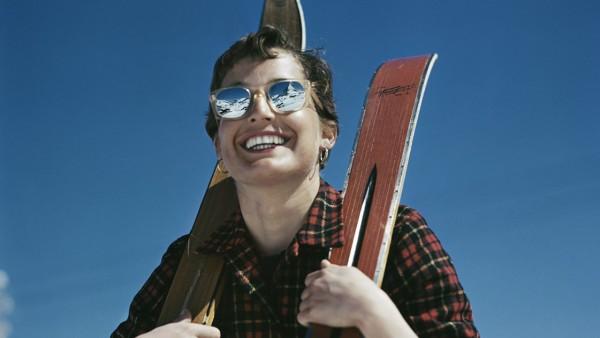 Robert Capa — L'Américaine Judith Stanton, Zermatt, Suisse, 1950