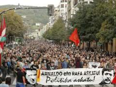Manifestación en San Sebastián para pedir la excarcelación de Otegi y Díez