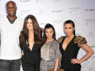 Lamar Odom, Rob Kardashian,  Khloe Kardashian , Kourtney Kardashian y Kim Kardashian