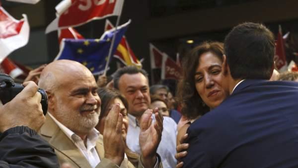 Irene Lozano y Pedro Sánchez