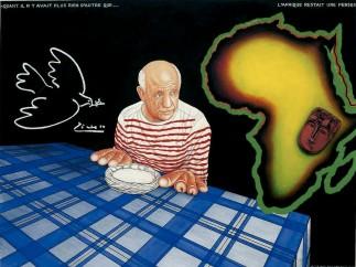 Chéri Samba - Picasso, 2000
