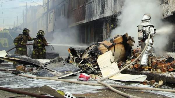 Accidente Bogotá avioneta bimotor.