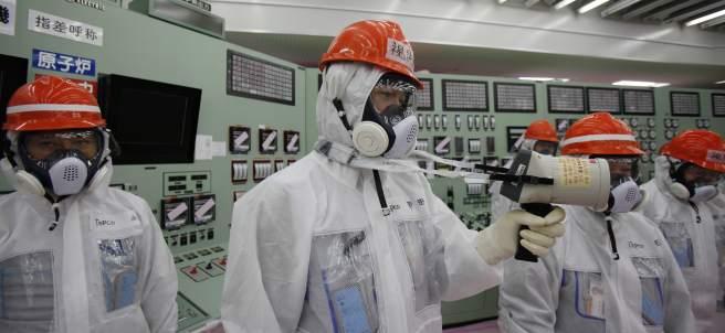Trabajadores en Fukushima