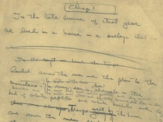First page of autograph manuscript of A Farewell to Arms, New York: Charles Scribner's Sons, 1929