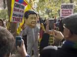 Protestas en Londres contra la visita de Xi Jinping
