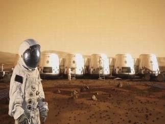 Un astronauta en Marte