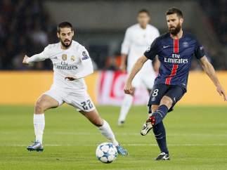 Motta e Isco, PSG - Real Madrid