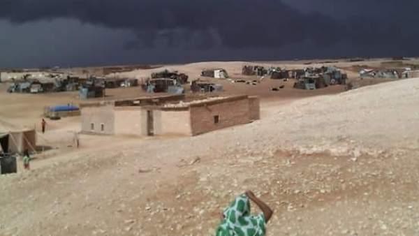 Lluvias torrenciales en los campamentos saharauis