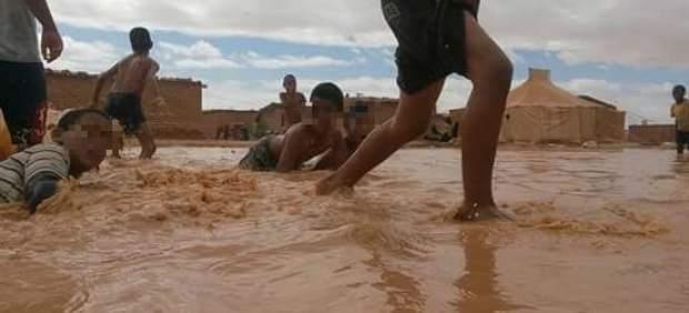Lluvias torrenciales en el Sahara Occidental