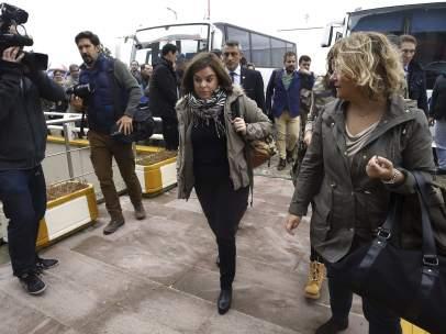 Soraya Sáenz de Santamaría en Corlu, Turquía.