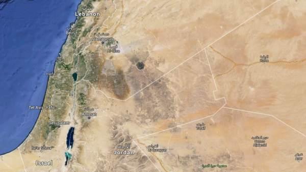 Mapa de Siria y Israel.