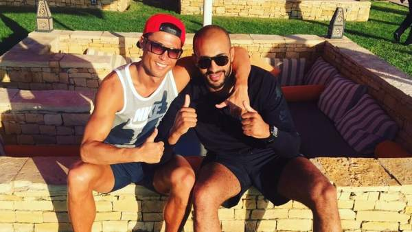 Cristiano Ronaldo, en Marruecos