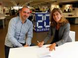 Firma del acuerdo entre PlayGround y 20minutos