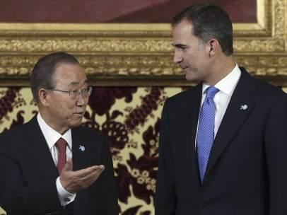 Ban Ki-moon y Felipe VI