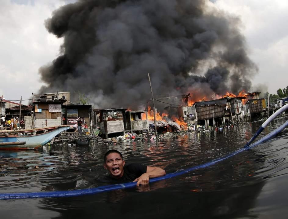 Devastador incendio en Manila