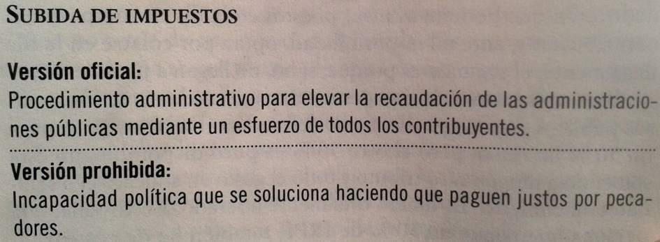 Subida de impuestos, por Fernando Trias de Bes ('El libro prohibido de la economía')