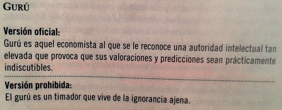 Gurú, por Fernando Trias de Bes ('El libro prohibido de la economía')
