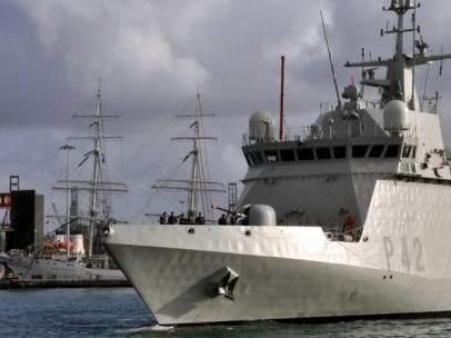 El patrullero oceánico 'Rayo', buque de acción marítima (BAM)
