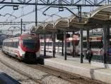 Cercanías en la estación de Santa Eugenia, en Madrid, en una imagen de archivo.
