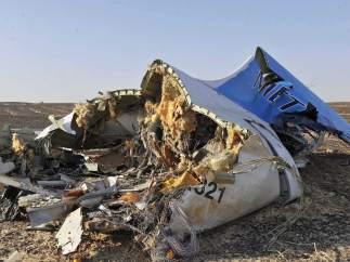Avión ruso estrellado en el Sinaí