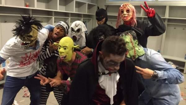 Disfrazados en Halloween