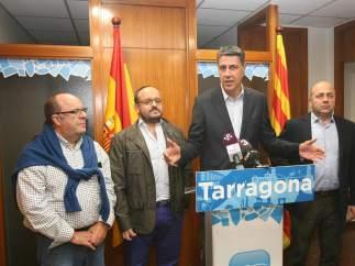 Xavier García Albiol durante una rueda de prensa este domingo en Tarragona.