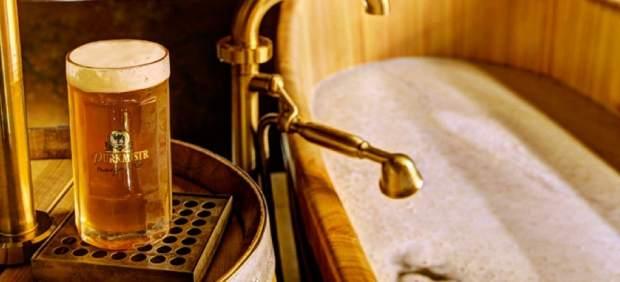 Fuentes y baños de cerveza, un guiño para el amante del lúpulo