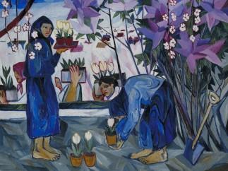 Natalja Sergejewna Gontscharowa, Gardening, 1908
