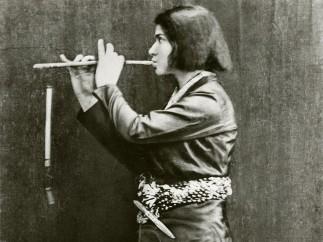 Else Lasker-Schüler, Die Flötenspielende Frontispiz des Briefromans Mein Herz, 1912