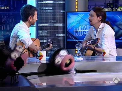 Pablo Iglesias canta en El Hormiguero