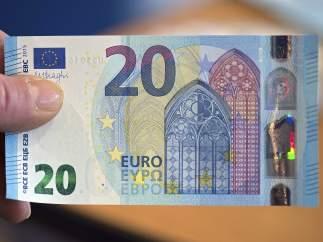 Primeros billetes de 20 euros