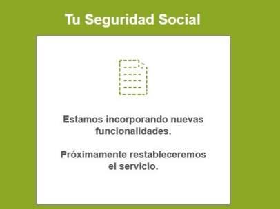 Colapso de la web Tu Seguridad Social