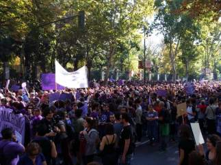 Manifestación estatal contra la violencia machista
