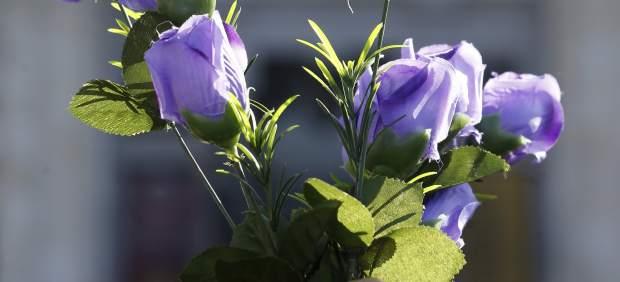 Flores contra la violencia machista