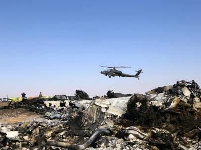 Avión ruso siniestrado en el Sinaí