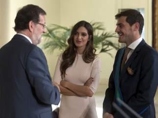 Casillas, Sara Carbonero y Rajoy