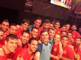 Selfie con la nueva camiseta de España