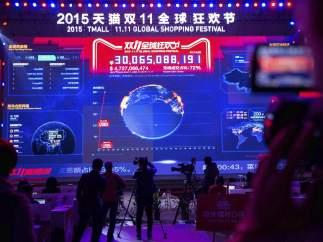 Marcador ventas Alibaba Día del Soltero