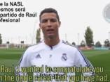 El Madrid homenajea a Raúl en su despedida