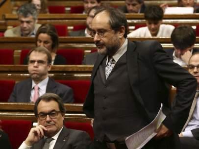 Antonio Baños y Artur Mas