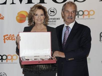 Jesús Mariñas, junto a María Teresa Campos