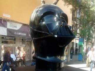 Escultura Darth Vader sin casco