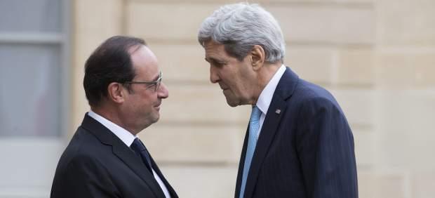 Hollande y Kerry
