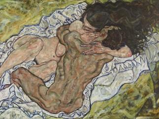 Egon Schiele, The Embrace (Lovers II), 1917