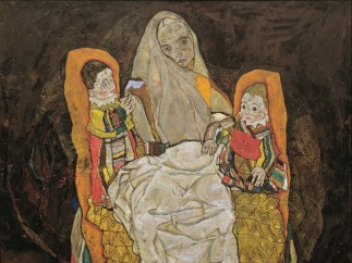 Egon Schiele, Mother with two children III, 1917