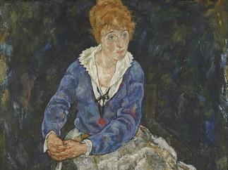 Egon Schiele, Portrait of the Artist's Wife, Edith Schiele, 1918