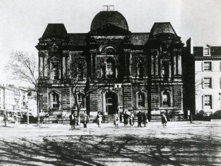 Front of Court of Claims Building, 1950s