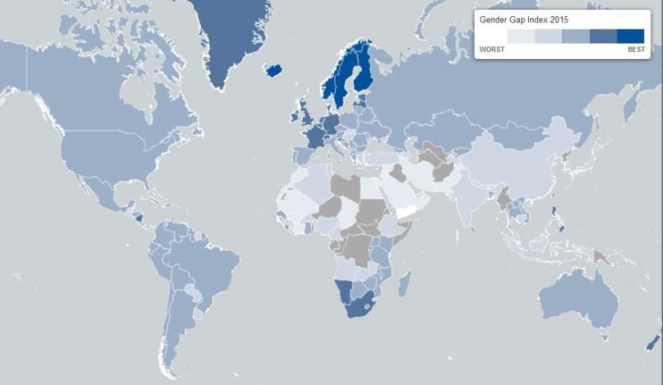 Brecha salarial en el mundo